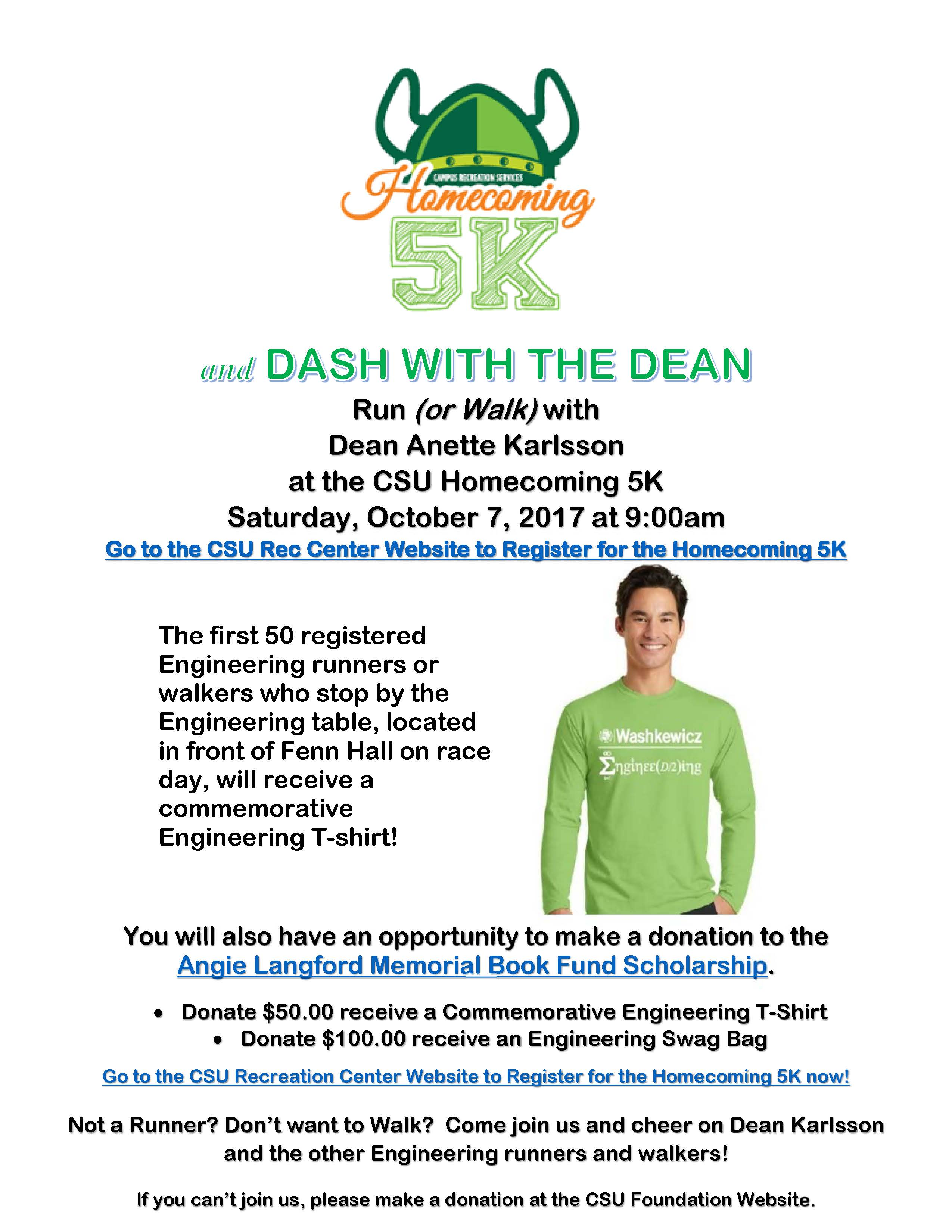 Dash with the Dean Flyer