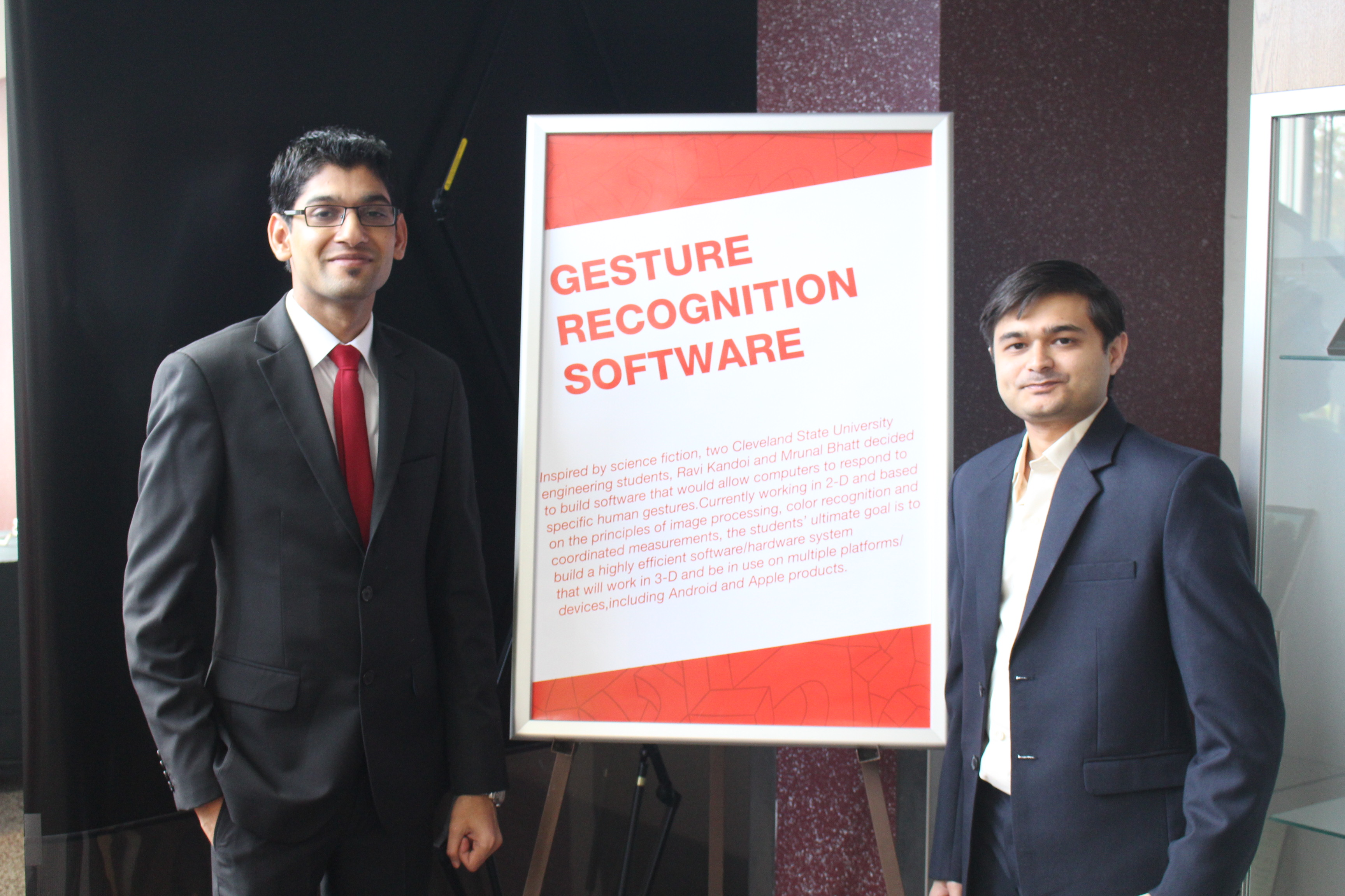 Ravi Kandoi (Washkewicz College of Engineering) and Mrunal Bhatt (Monte Ahuja College of Business)