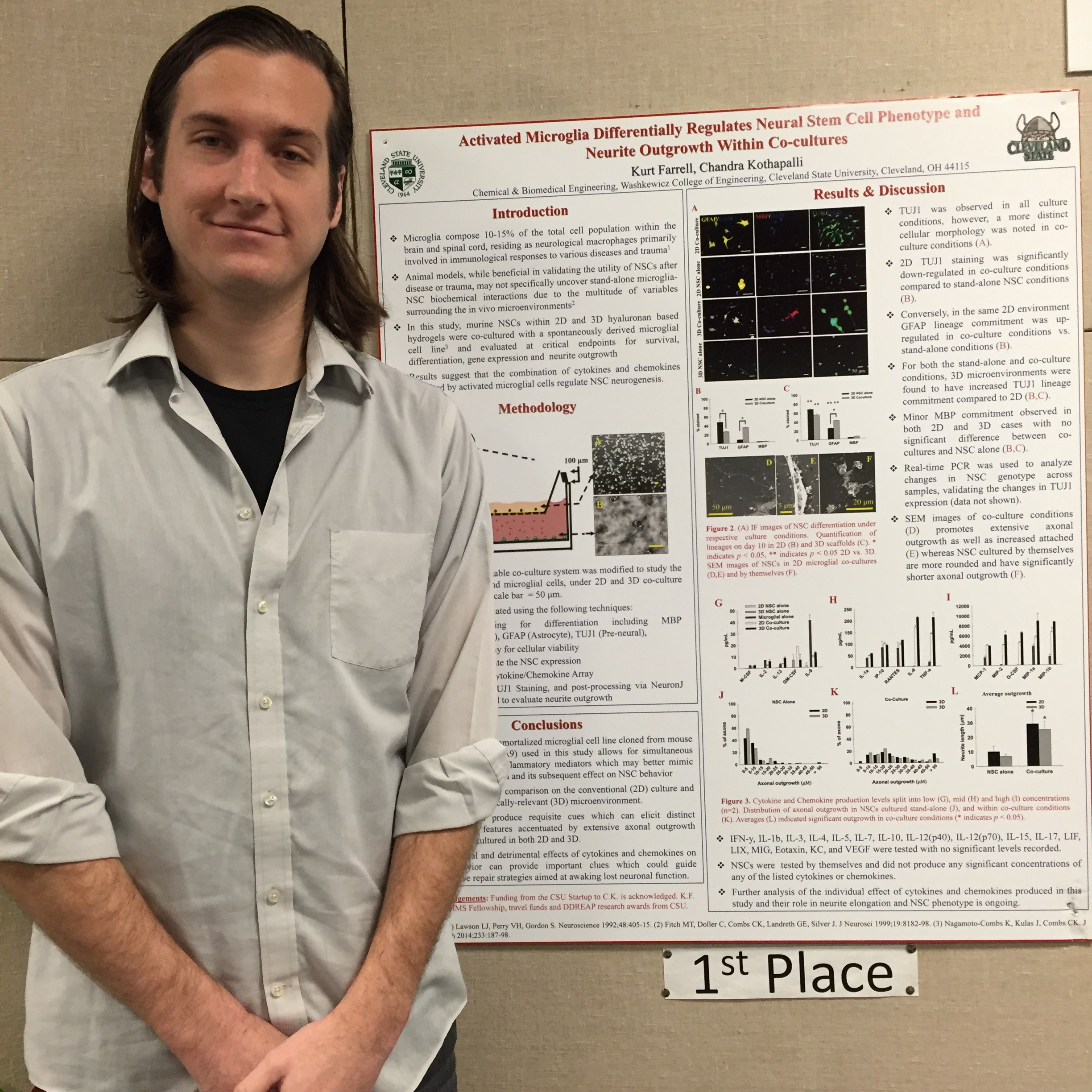 Kurt standing by his 1st Prize Poster