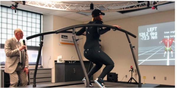 The motion suit in our new human motion and control laboratory.
