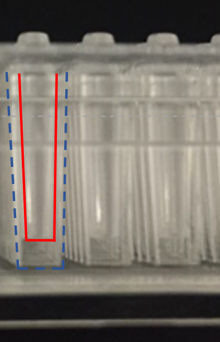 384-pillars inserted in 384-wells for human cell culture