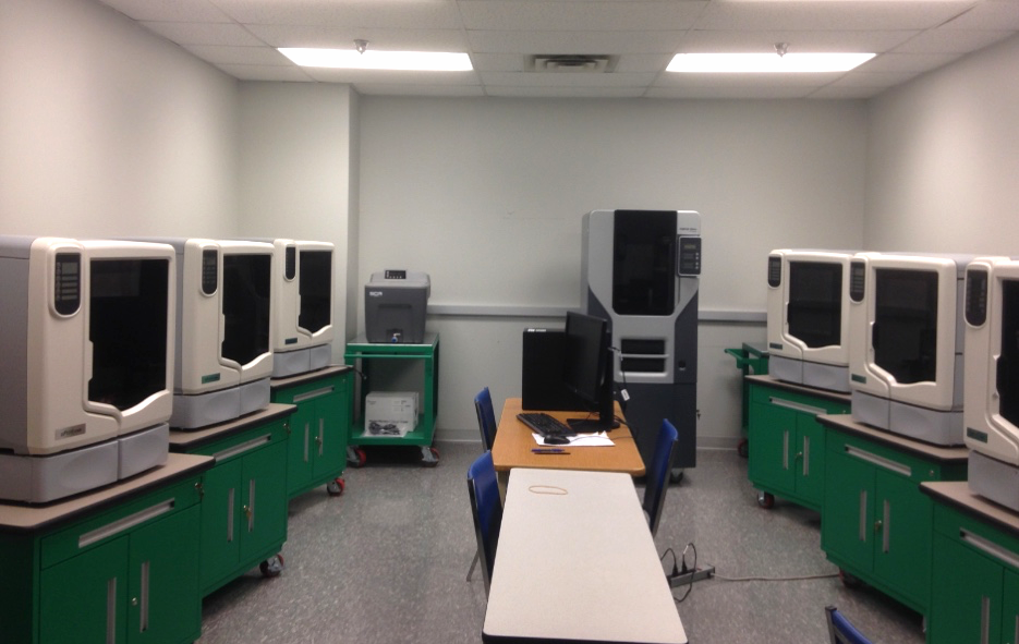 The 3D printing facility at Cleveland State University