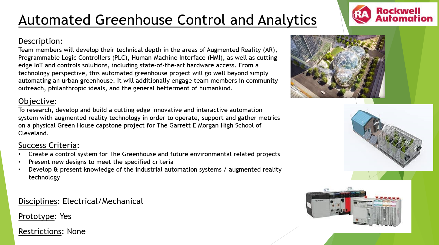 Automated Greenhouse Control and Analytics