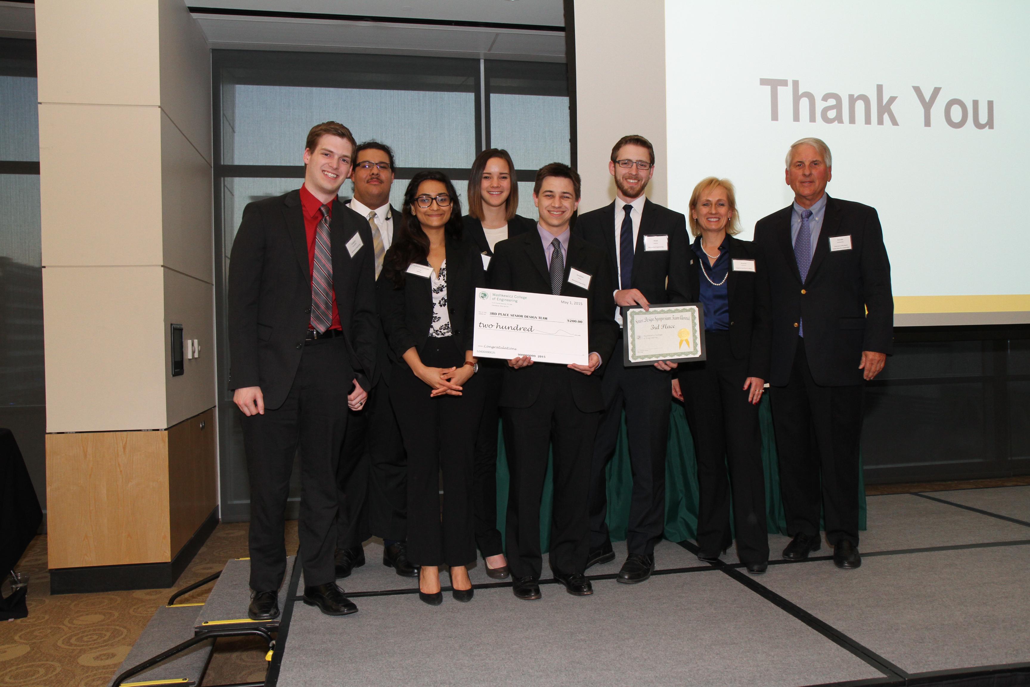 3rd Place Winners Senior Design