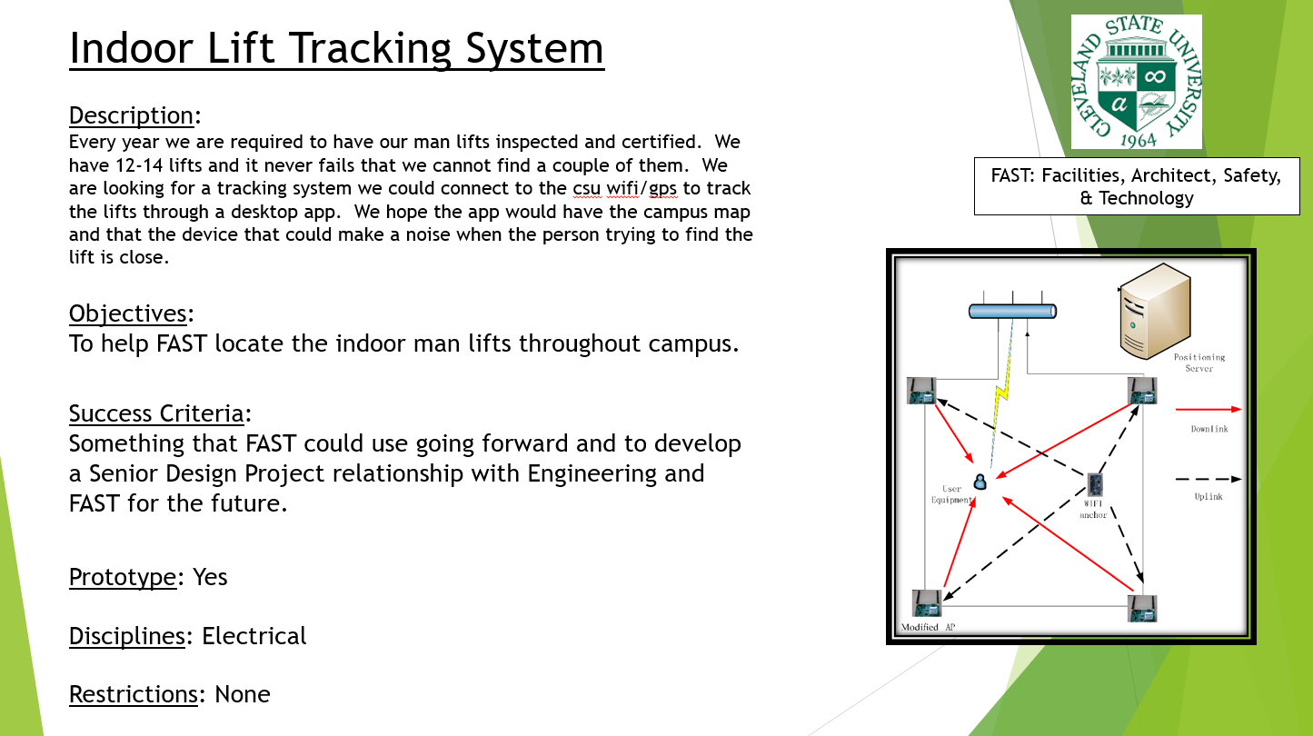 Indoor Lift Tracking System