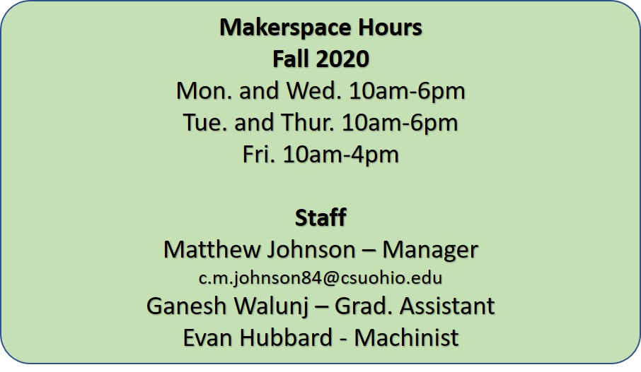 Makerspace Hours