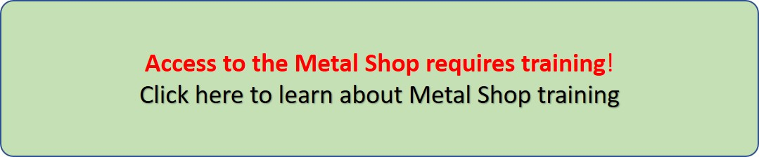 Metal Shop Access Sign