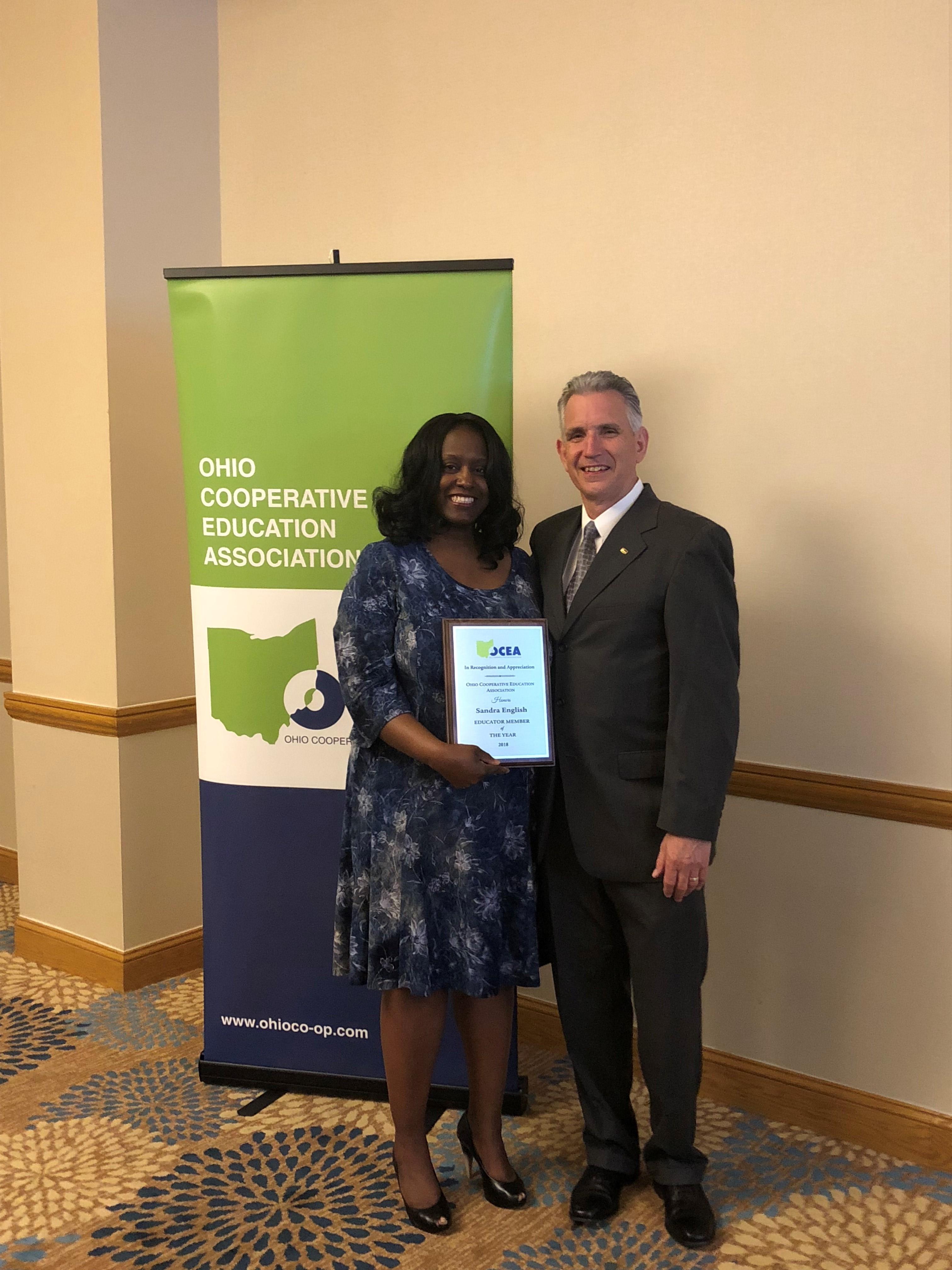 Sandra English, OCEA Educator Award