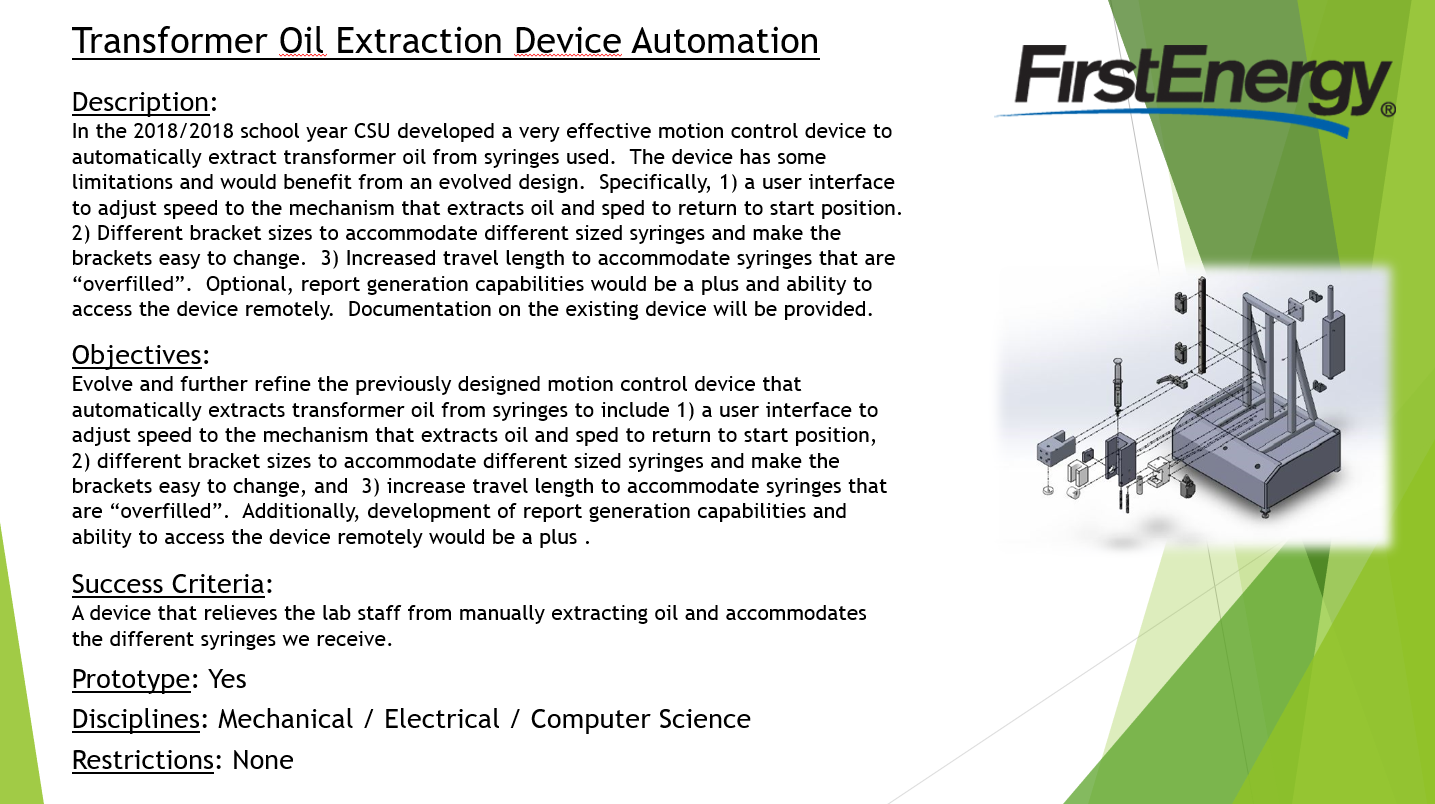 Transformer Oil Extraction Device Automation