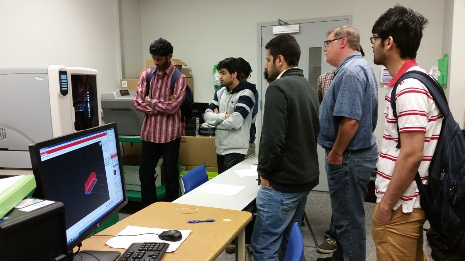 Students from Additive Manufacturing class