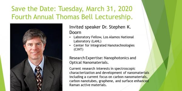 Fourth annual Bell lecture feating Dr Stephen Doorn save the date tuesday march 31 2020