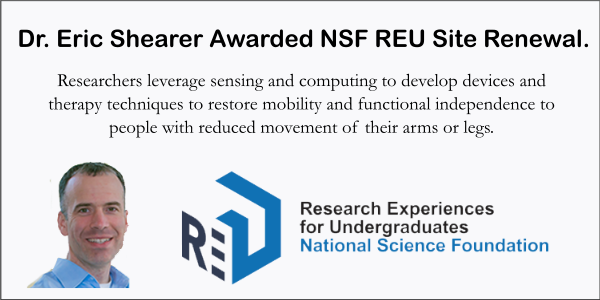 Dr. Eric Shearer awarded NSF REU site renewal.