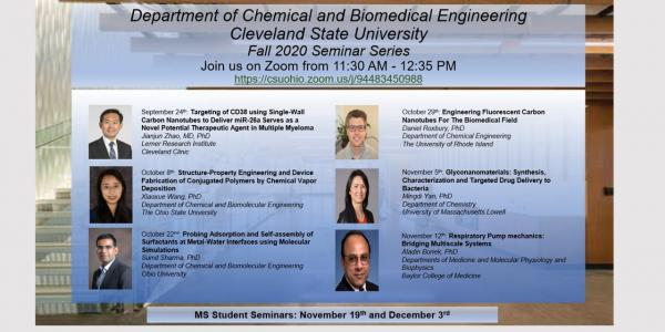 Chemical and Biomedical fall 2020 lectures
