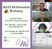 IEEE WIE Matlab/Simulink tutorial Workshop